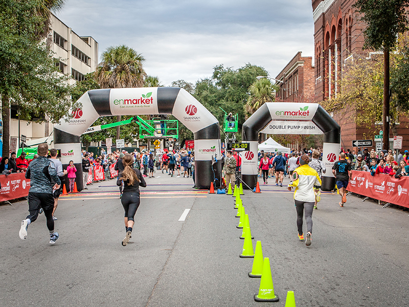 Enmarket Savannah Bridge Run Finish Line