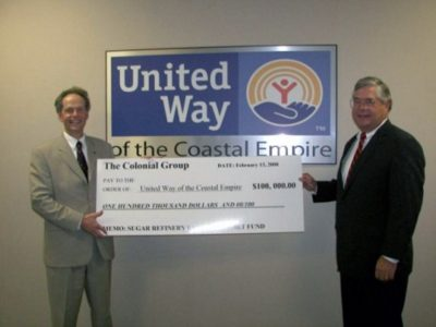 Colonial Group Supporting United Way